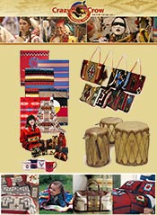 Picture of Native American craft supplies from Crazy Crow Trading Post catalog