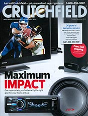 Picture of Crutchfield catalog from Crutchfield catalog