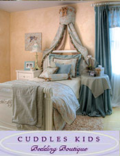 Picture of baby nursery bedding from Cuddles Kids Bedding Boutique catalog