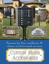 Picture of home mail box from Custom Home - Mailboxes & Address Plaques catalog