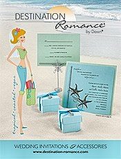 Picture of beach wedding invitations from Destination Romance by Dawn catalog