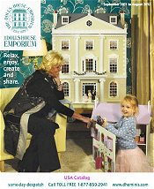 Picture of dollhouses and miniatures from Dolls House Emporium catalog