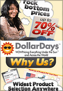 Picture of Dollar Days wholesale from DollarDays Wholesale General Merchandise catalog