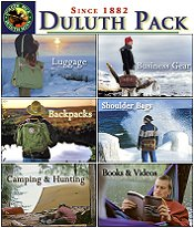 Picture of camping backpacks from Duluth Pack catalog