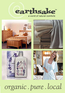 Picture of organic linens from earthsake - World of Natural Comforts catalog