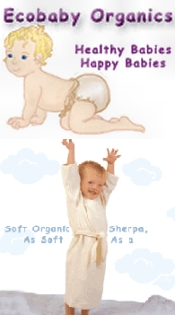 Picture of organic cloth diapers from Ecobaby Organics catalog
