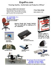 Picture of ergonomic chairs from  ErgoPro catalog