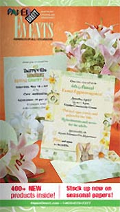 Picture of blank wedding invitations from Events by PaperDirect® catalog