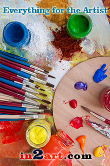 Picture of art tools from Everything for the Artist � In2art.com catalog