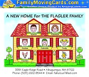 Picture of personalized moving cards from Family Moving Cards catalog