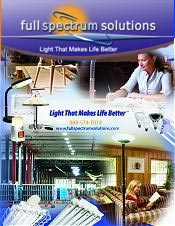 Picture of light therapy lamps from Full Spectrum Lighting catalog