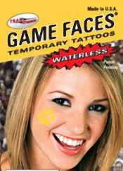 Picture of buy temporary tattoos from Game Faces � by Team Dynamics catalog