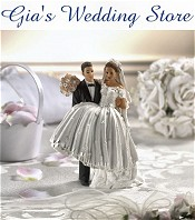 Picture of wedding cake accessories from Gia's Wedding Store catalog