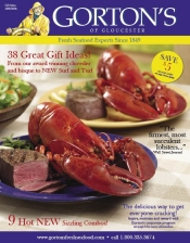 Picture of fresh lobster on-line from Gorton's of Gloucester catalog