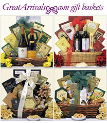 Picture of gift baskets online from Great Arrivals catalog