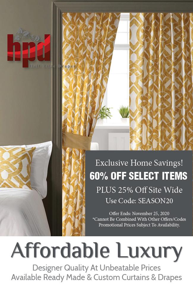 Half Price Drapes - Exclusive Fabrics & Furn