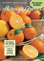 Picture of valencia oranges from Harvey's Groves catalog