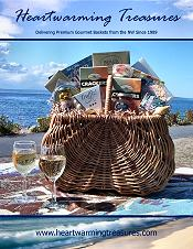 Picture of gourmet baskets from Heartwarming Treasures catalog