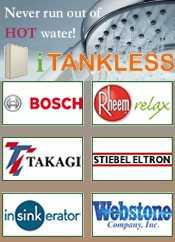 Picture of tankless water heaters from iTankless.com catalog