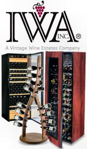 Picture of built in wine cabinets from IWA Wine.com catalog