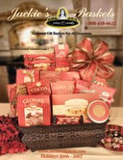 Picture of gourmet gift basket from Jackie's Baskets catalog