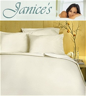 Picture of organic cotton sheets from Janice's catalog