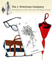 Picture of J Peterman catalog from J. Peterman catalog