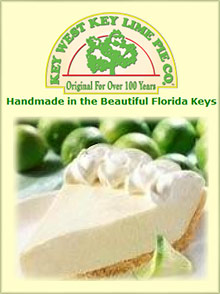 Picture of key lime pie from Key West Key Lime Pie Company catalog