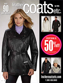 Picture of women's leather coats from Leather Coats ETC catalog
