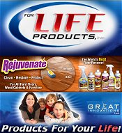 Picture of floor care products from For Life Products catalog