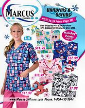 Picture of nursing scrubs from Marcus Uniforms catalog