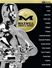 Picture of trophy plaque from Maxwell Medals & Awards catalog