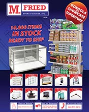 Picture of store display fixtures from M. Fried Stores & Fixtures catalog
