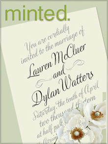 Picture of minted wedding invitations from Minted catalog