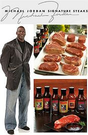 Picture of mail order steak from Michael Jordan Steaks catalog