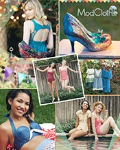 Picture of indie women's clothing from ModCloth catalog