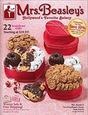 Picture of internet baked goods from Mrs. Beasley's Gift Baskets catalog
