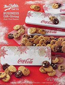 Picture of corporate cookie gifts from Mrs. Fields Corporate Gifts catalog