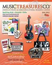 Picture of music gifts from Music Treasures Co. catalog
