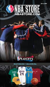 Picture of basketball catalogs from NBA Catalog catalog