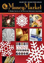 Picture of coin collecting supplies from American Numismatic Association catalog