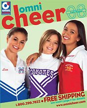 Picture of cheer uniforms from Omni Cheer catalog