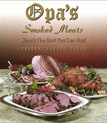 Picture of smoked chicken from Opa's Smoked Meats catalog