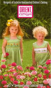Picture of little girls dresses from Orient Expressed catalog