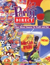 Picture of discount birthday party supplies from Party Direct catalog