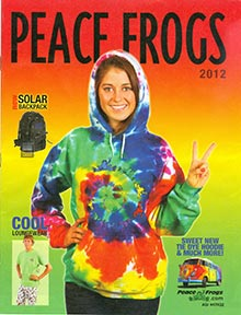 Picture of fun clothing designs from Peace Frogs catalog
