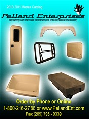 Picture of rv parts catalog from Pelland RV catalog
