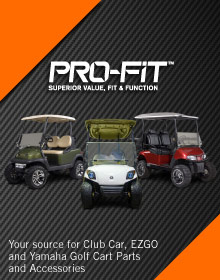 Picture of golf cart accessories from Pro-Fit Parts catalog