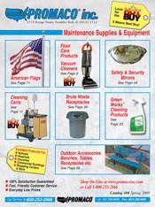 Picture of janitor maintenance from Promaco Inc. catalog
