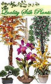 Picture of silk floral arrangements from Quality Silk Plants catalog
